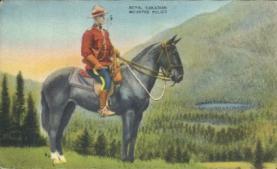 cmp001001 - Royal Canadian Mounted Police Old Vintage Antique Postcard Post Card