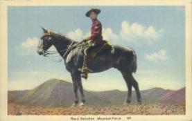 cmp001003 - Royal Canadian Mounted Police Old Vintage Antique Postcard Post Card