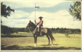 cmp001004 - Royal Canadian Mounted Police Old Vintage Antique Postcard Post Card
