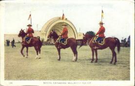 cmp001007 - Royal Canadian Mounted Police Old Vintage Antique Postcard Post Card