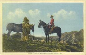 cmp001009 - Royal Canadian Mounted Police Old Vintage Antique Postcard Post Card