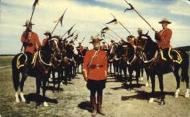 cmp001016 - Royal Canadian Mounted Police Old Vintage Antique Postcard Post Card