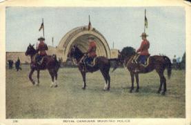cmp001017 - Royal Canadian Mounted Police Old Vintage Antique Postcard Post Card