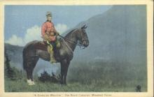 cmp001020 - A Canadian Mountie Royal Canadian Mounted Police Old Vintage Antique Postcard Post Card