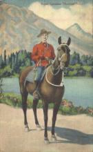 cmp001022 - Royal Canadian Mounted Police Old Vintage Antique Postcard Post Card