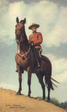cmp001024 - Royal Canadian Mounted Police Old Vintage Antique Postcard Post Card