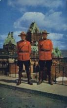 cmp001026 - Quebec Royal Canadian Mounted Police Old Vintage Antique Postcard Post Card
