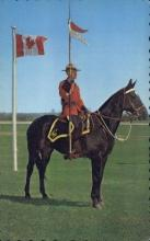 cmp001028 - Founded in 1873 to Polics Canada's North West Territories Royal Canadian Mounted Police Old Vintage Antique Postcard Post Card