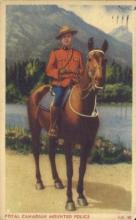 cmp001031 - Royal Canadian Mounted Police Old Vintage Antique Postcard Post Card