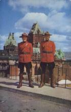 cmp001037 - Quebec Royal Canadian Mounted Police Old Vintage Antique Postcard Post Card
