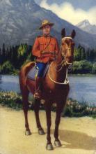 cmp001038 - Royal Canadian Mounted Police Old Vintage Antique Postcard Post Card