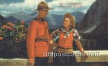 cmp001042 - Black Watch, Royal Canadian Mounted Police, Old Vintage Antique Postcard Post Card