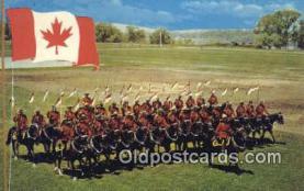 cmp001045 - Black Watch, Royal Canadian Mounted Police, Old Vintage Antique Postcard Post Card