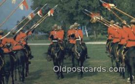 cmp001050 - Black Watch, Royal Canadian Mounted Police, Old Vintage Antique Postcard Post Card
