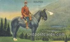 cmp001052 - Black Watch, Royal Canadian Mounted Police, Old Vintage Antique Postcard Post Card