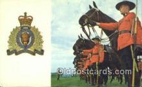 cmp001054 - Black Watch, Royal Canadian Mounted Police, Old Vintage Antique Postcard Post Card
