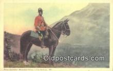 cmp001057 - Black Watch, Royal Canadian Mounted Police, Old Vintage Antique Postcard Post Card