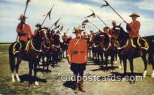 cmp001058 - Black Watch, Royal Canadian Mounted Police, Old Vintage Antique Postcard Post Card
