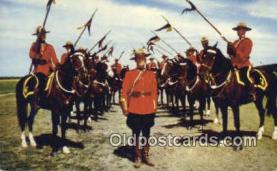 cmp001058 - Black Watch, Royal Canadian Mounted Police, Old Vintage Antique Postcard Post Card