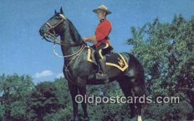cmp001059 - Black Watch, Royal Canadian Mounted Police, Old Vintage Antique Postcard Post Card