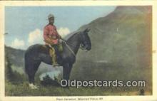 cmp001060 - Black Watch, Royal Canadian Mounted Police, Old Vintage Antique Postcard Post Card