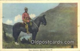 cmp001060 - Black Watch, Royal Canadian Mounted Police, Old Vintage Antique Postcard Post Card