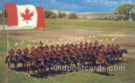 cmp001065 - Black Watch, Royal Canadian Mounted Police, Old Vintage Antique Postcard Post Card