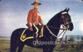 cmp001066 - Black Watch, Royal Canadian Mounted Police, Old Vintage Antique Postcard Post Card