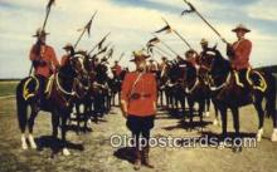 cmp001067 - Black Watch, Royal Canadian Mounted Police, Old Vintage Antique Postcard Post Card