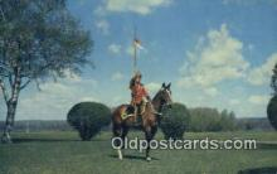 cmp001072 - Black Watch, Royal Canadian Mounted Police, Old Vintage Antique Postcard Post Card