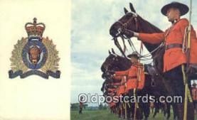 cmp001073 - Black Watch, Royal Canadian Mounted Police, Old Vintage Antique Postcard Post Card