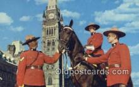 cmp001075 - Black Watch, Royal Canadian Mounted Police, Old Vintage Antique Postcard Post Card