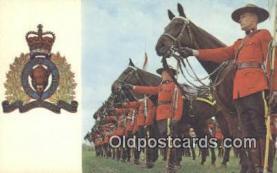 cmp001080 - Black Watch, Royal Canadian Mounted Police, Old Vintage Antique Postcard Post Card