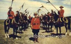 cmp001081 - Black Watch, Royal Canadian Mounted Police, Old Vintage Antique Postcard Post Card
