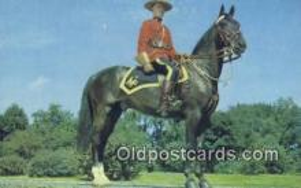 cmp001082 - Black Watch, Royal Canadian Mounted Police, Old Vintage Antique Postcard Post Card