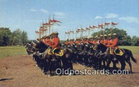 cmp001083 - Black Watch, Royal Canadian Mounted Police, Old Vintage Antique Postcard Post Card