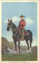 cmp001086 - Black Watch, Royal Canadian Mounted Police, Old Vintage Antique Postcard Post Card