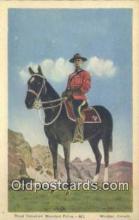 cmp001092 - Black Watch, Royal Canadian Mounted Police, Old Vintage Antique Postcard Post Card