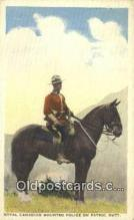 cmp001099 - Black Watch, Royal Canadian Mounted Police, Old Vintage Antique Postcard Post Card