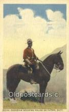 cmp001101 - Black Watch, Royal Canadian Mounted Police, Old Vintage Antique Postcard Post Card