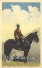 cmp001101 - Black Watch, Royal Canadian Mounted Police, Old Vintage Antique Postcard Post Card