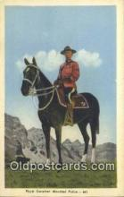 cmp001105 - Black Watch, Royal Canadian Mounted Police, Old Vintage Antique Postcard Post Card