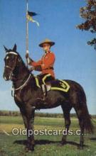 cmp001107 - Black Watch, Royal Canadian Mounted Police, Old Vintage Antique Postcard Post Card