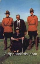 cmp001110 - Black Watch, Royal Canadian Mounted Police, Old Vintage Antique Postcard Post Card