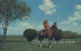 cmp001111 - Black Watch, Royal Canadian Mounted Police, Old Vintage Antique Postcard Post Card