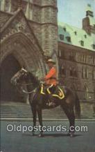 cmp001112 - Black Watch, Royal Canadian Mounted Police, Old Vintage Antique Postcard Post Card