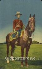 cmp001117 - Black Watch, Royal Canadian Mounted Police, Old Vintage Antique Postcard Post Card