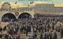cny001017 - Steeplechase Pier, Coney Island, NY USA Coney Island Amusement Park Postcard Post Card