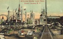 cny001019 - Witching Waves, Luna Park, Coney Island, NY USA Coney Island Amusement Park Postcard Post Card