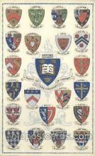 coa001003 - Oxford University, Coat Of Arms Postcard Post Card